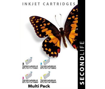 SecondLife Multipack Epson 711, 712, 713 en 714