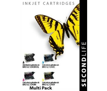 SecondLife Multipack Brother 1240 BK, C, M en Y