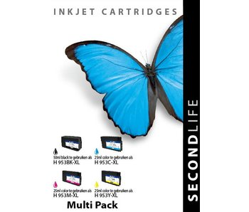 SecondLife SecondLife - Multipack HP 953 XL BK, C, M en Y