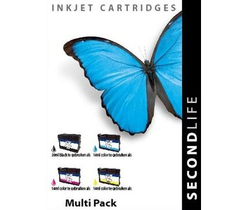 SecondLife OEM - Multipack SL for HP 934 / 935 BK, C, M en Y