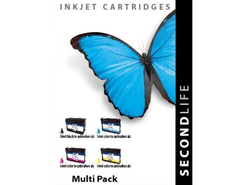SecondLife OEM - Multipack SL for HP 934 / 935 BK, C, M en Y