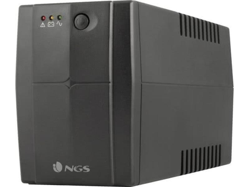 NGS NGS Fortress 600 V2 Stand-by (Offline) 400VA 2AC outlet(s) Zwart - UPS - 240W - Noodstroom