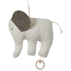 """Efie Efie Spieluhr Elefant """"Weiß Du wieviel Sternlein"""" grau KbA"""