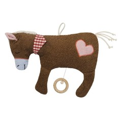 """Efie Efie Musical Horse """"Brahms Lullaby Lullaby"""" brown KbA"""