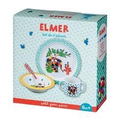 Petit Jour Paris Petit Jour Elmer 4-delig servies set kleurrijke