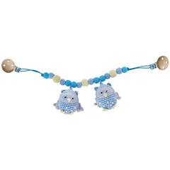 Sindibaba Sindibaba Pram Rattle Owl light blue
