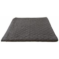 Kidsdepot Kids Depot knit blanket Baby Manta Check anthracite 100x150cm