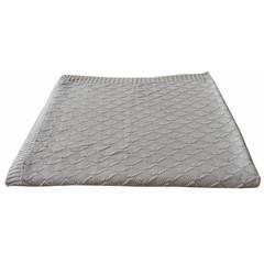 Kidsdepot Kids Depot gebreide deken van de baby Manta controleren grijze 100x150cm