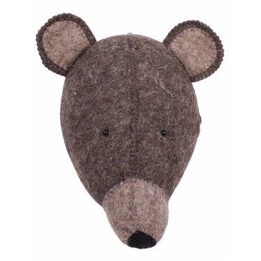 Kidsdepot Kids Depot ZOO Bear Animal Head trophy brown
