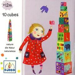 Djeco Djeco stapelen toren 10 delen Natuur en Dieren
