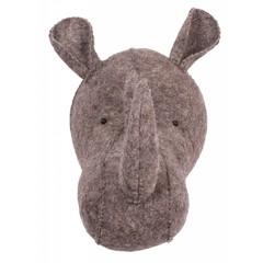 Kidsdepot Kidsdepot ZOO Nashorn Tierkopf Trophäe  grau