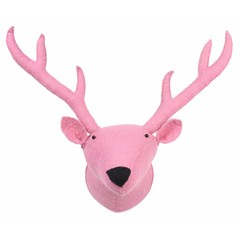 Kidsdepot Kids Depot ZOO reindeer animal head Trophy pink