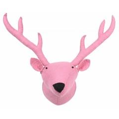 Kidsdepot Kidsdepot ZOO Rentier Tierkopf Trophäe rosa