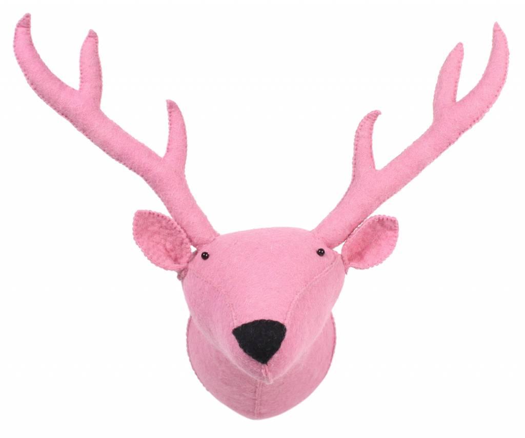 kidsdepot kids depot zoo reindeer animal head trophy pink