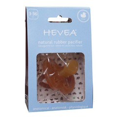 Hevea Hevea pacifiers duck from 3 months, orthodontic