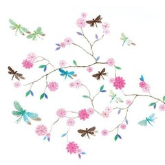 "Djeco Djeco muursticker ""Libel tree"" roze"