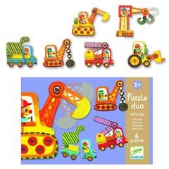 Djeco Djeco Puzzle duo vehicles