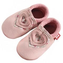 Pololo Pololo Sweetheart Pink Heart Baby Shoes 20/21