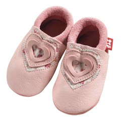Pololo Pololo Sweetheart Pink Heart Baby Shoes 18/19