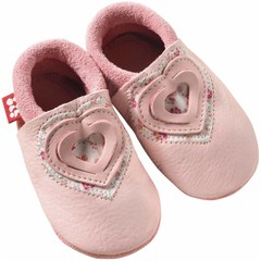 Pololo Pololo Sweetheart Pink Heart Baby Shoes 24/25
