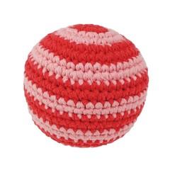 Sindibaba Sindibaba Babyball gehäkelt rot geringelt