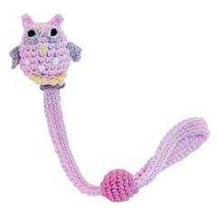 Sindibaba Sindibaba Schnullerkette crochet owl pink