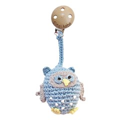 Sindibaba Sindibaba stroller trailer Rattle Owl light blue
