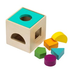 Fashy Fashy plug Cube Wood kleurrijke