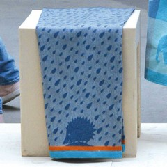 David Fussenegger David Fussenegger Ida lightweight cotton blanket Hedgehog blue