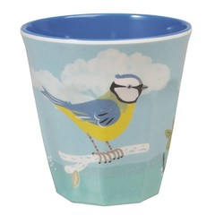 Rex International Rex mok pastel met vogel Vintage