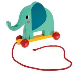 Rex International Rex Pull along elephant wooden colorful