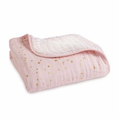 Aden + Anais Aden and Anais Dream Blanket Metallic Primrose rosa 120x120