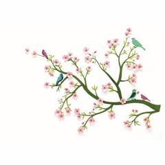 """Djeco Djeco Wandsticker """"Kirschbaum Blüten"""" rosa"""