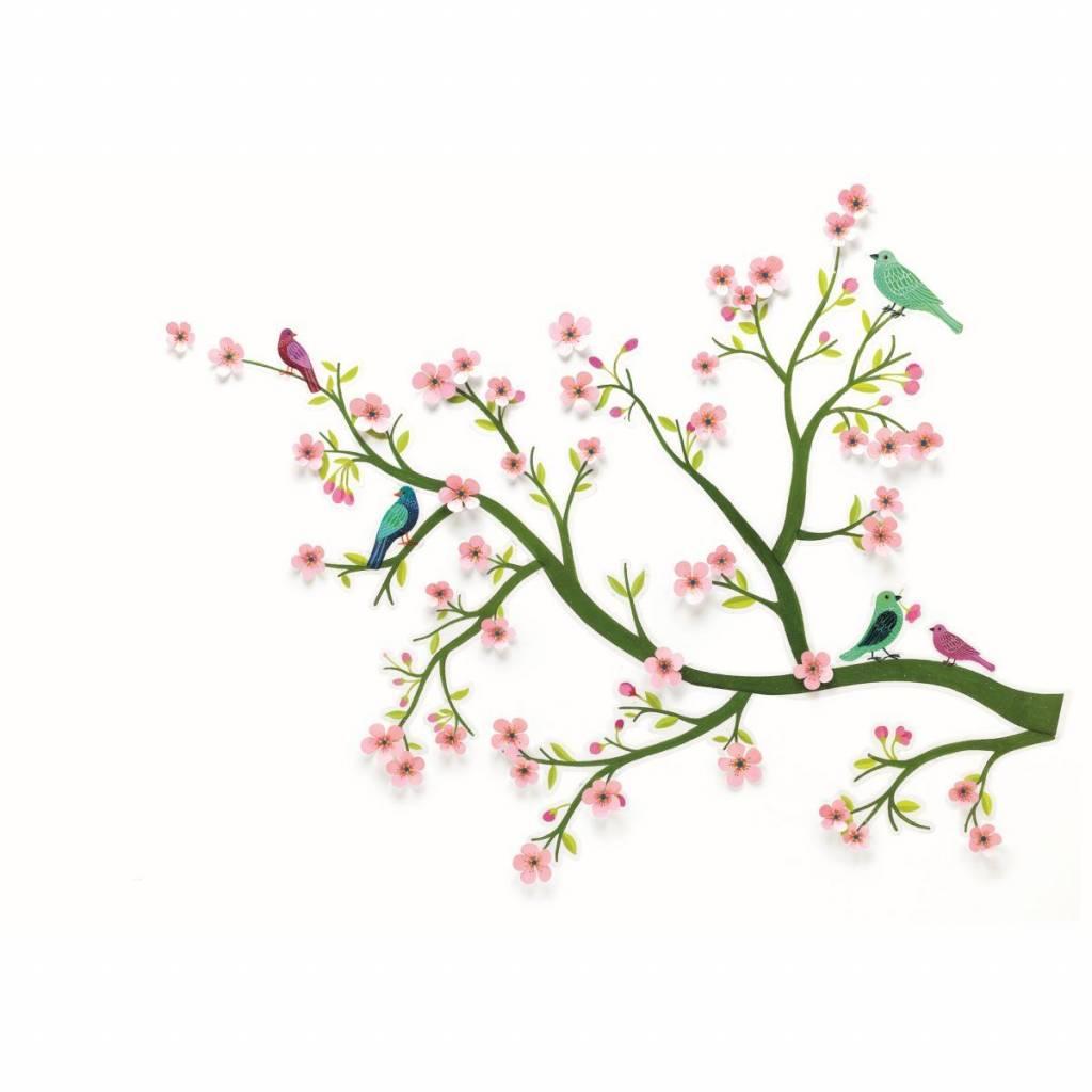 "Glamorous Wandtattoo Wiese Gallery Of Djeco Wandsticker ""kirschbaum Blüten"" Rosa"