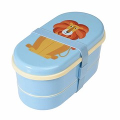 Rex International Rex Brotbox Bento Box Löwe blau