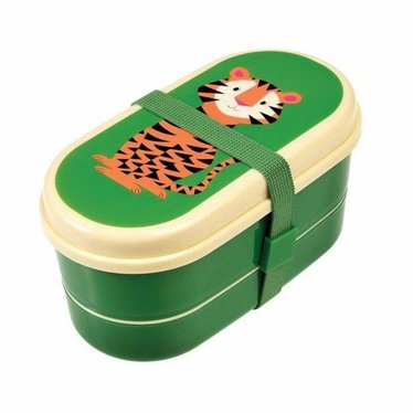 Rex International Rex Brotbox Bento Box Tiger grün