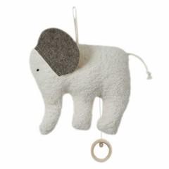 Efie Efie Spieluhr Elefant Organic | Brahms Wiegenlied grau kbA