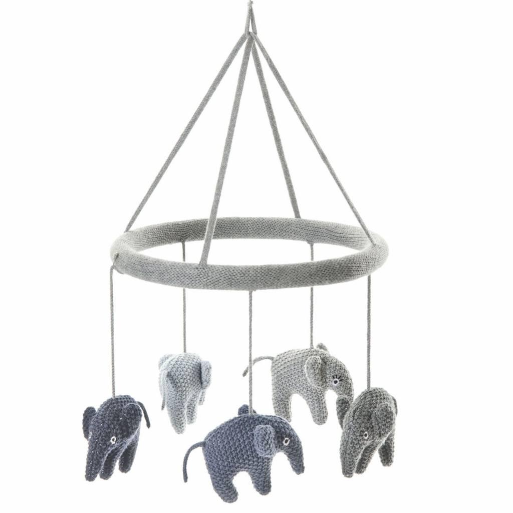 smallstuff mobile elefant fein gestrickte baumwolle milchwiese gmbh. Black Bedroom Furniture Sets. Home Design Ideas