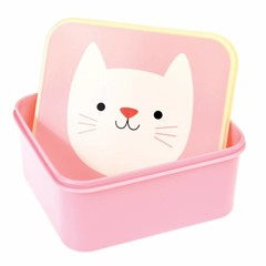 Rex International Rex Brotdose Lunchbox Katze Cookie rosa