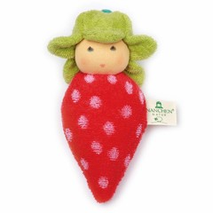 Nanchen Puppen Nanchen Puppen Greifling Erdbeere rot
