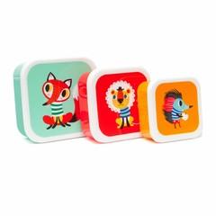 "Petit Monkey Petit Monkey Brotdosen Set ""Tiere"" 3er"