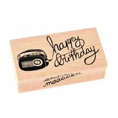 "Petit Monkey Petit Monkey Stempel Holz Radio ""Happy Birthday"""