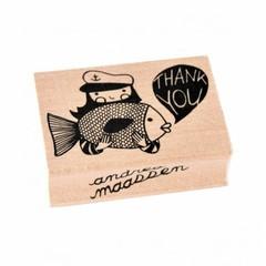"""Petit Monkey Petit Monkey Stempel Holz Fisch """"Thank You"""""""