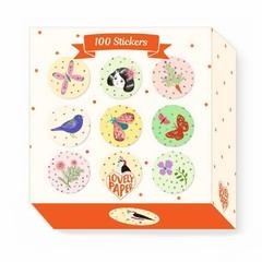 Djeco Djeco Sticker Lovely Papers Chichi 100 Stück