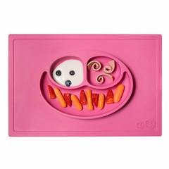 ezpz ezpz Happy Mat Silikon Platzmatte Teller pink