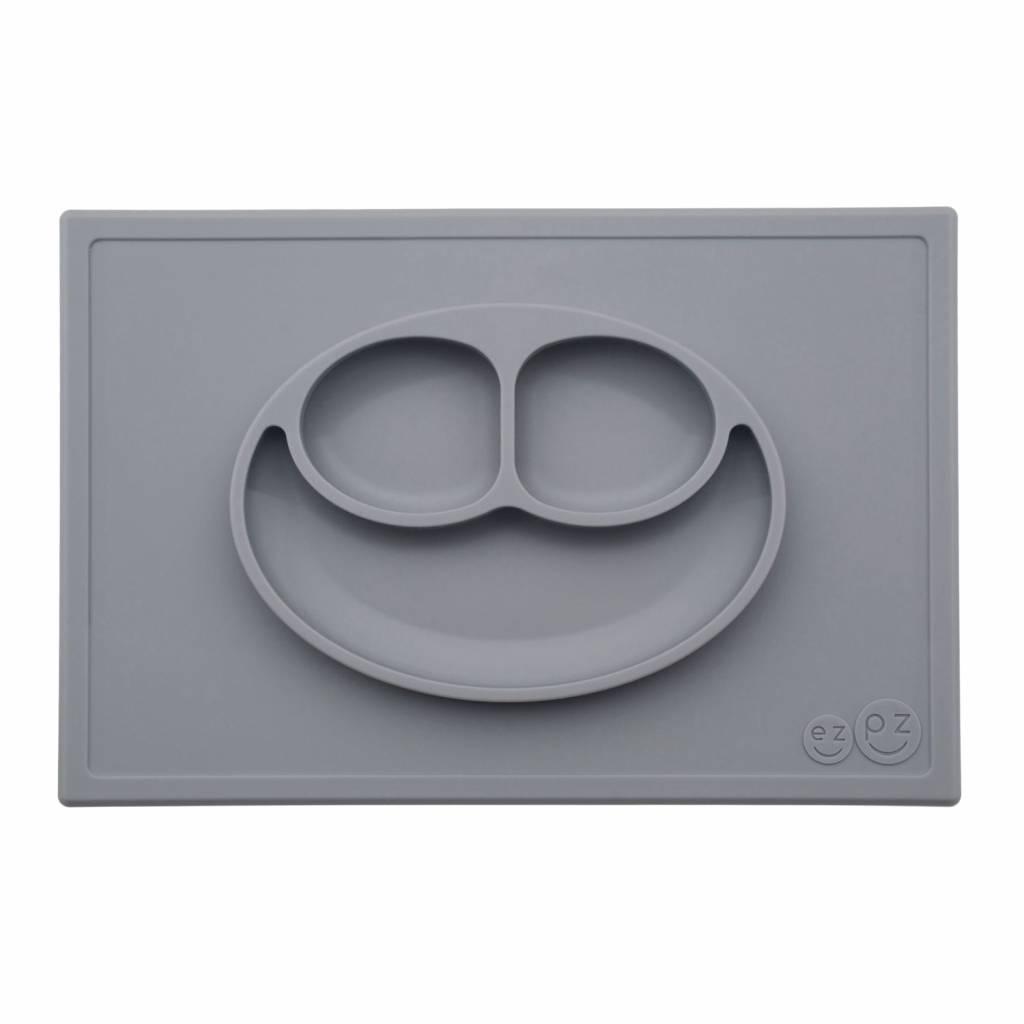 ezpz tellermatte happy mat kinderteller grau. Black Bedroom Furniture Sets. Home Design Ideas