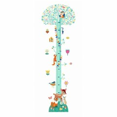 "Djeco Djeco Wandsticker Messlatte ""Blossoming Tree"""