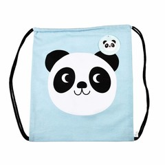 Rex International Rex gym bag Panda Miko blue cotton