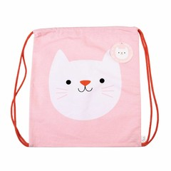 Rex International Rex gym bag cat cookie pink cotton