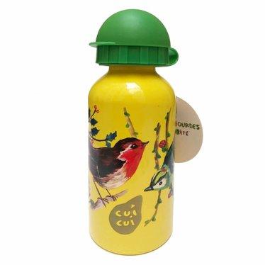 Vilac Vilac Trinkflasche gelb Vögel Nathalie Lètè 300ml